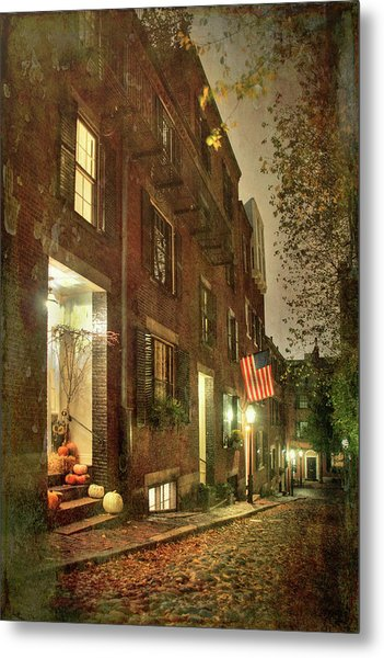 Metal Print featuring the photograph Vintage Boston - Acorn Street by Joann Vitali