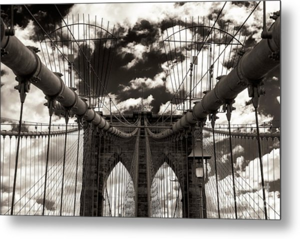 Vintage Brooklyn Bridge New York City Metal Print
