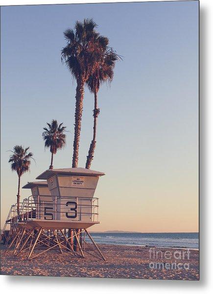 Vintage California Life Guard Station - Metal Print by Dcornelius