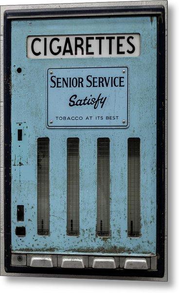 Metal Print featuring the photograph Senior Service Vintage Cigarette Vending Machine by Scott Lyons
