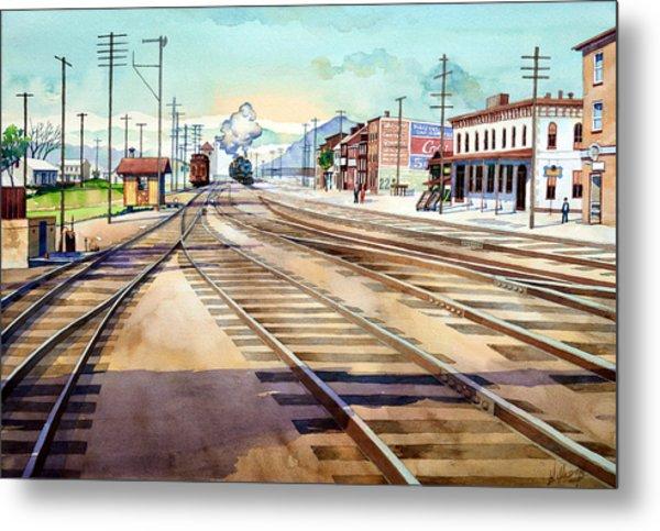 Vintage Color Columbia Rail Yards Metal Print