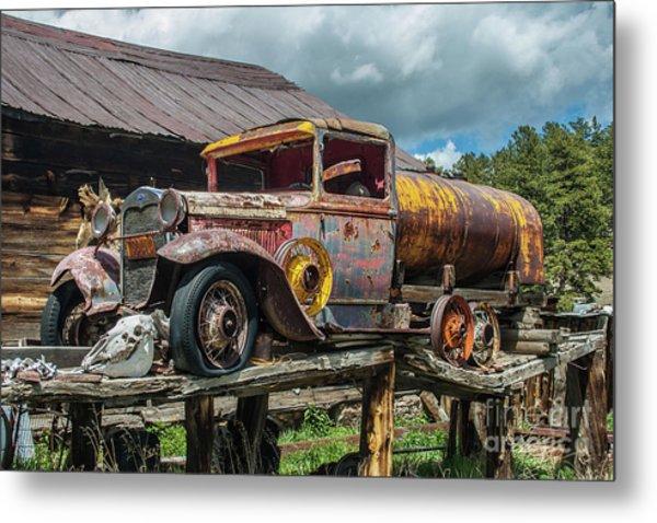 Vintage Ford Tanker Metal Print