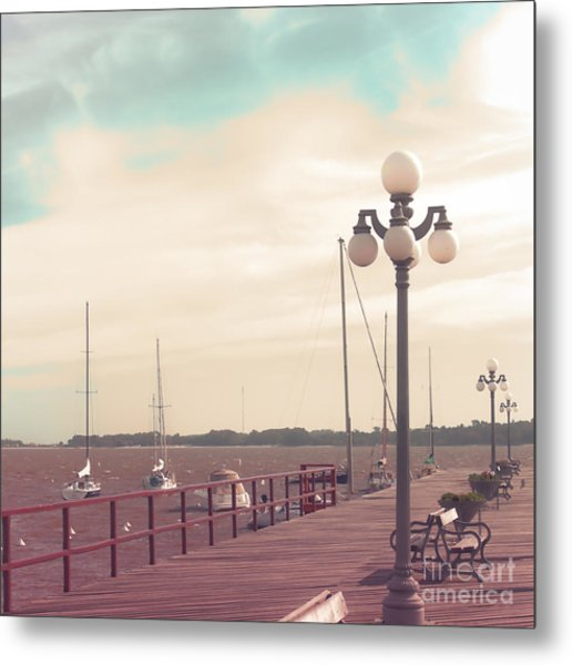 Vintage Sea Port Metal Print by Andrekart Photography