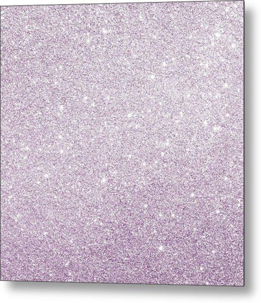 Violet Glitter Metal Print