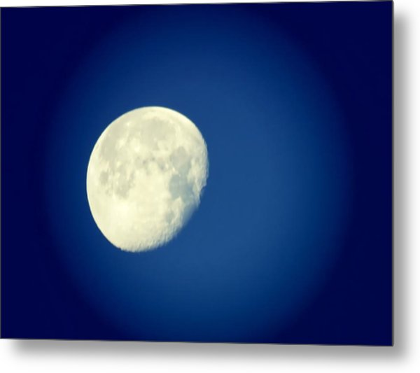 Metal Print featuring the photograph Virgo Moon Three Quarters by Judy Kennedy