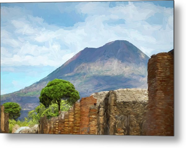 Visions Of Pompeii Metal Print by Tony Grider
