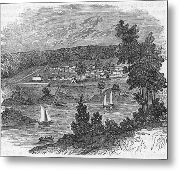 Vista Of Colonial Savannah, Georgia Metal Print by Kean Collection