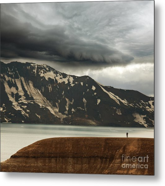 Vitio Geothermal Lake ,askja ,iceland Metal Print