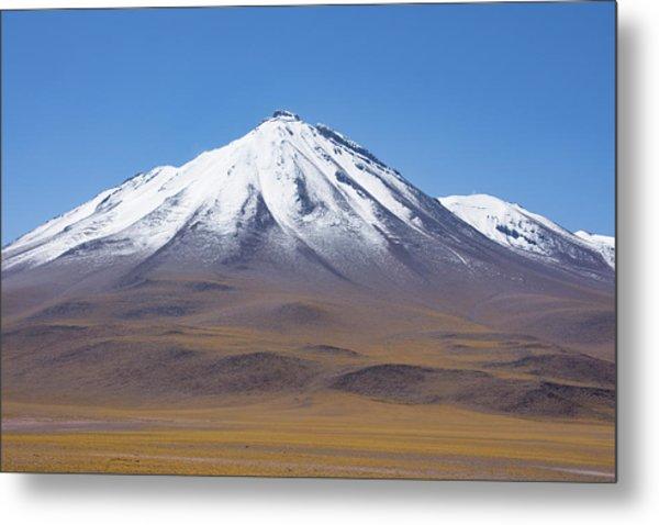 Volcano On The Altiplano Metal Print