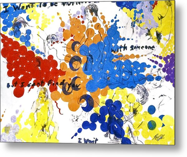 Metal Print featuring the painting Vulnerability  by Rene Capone