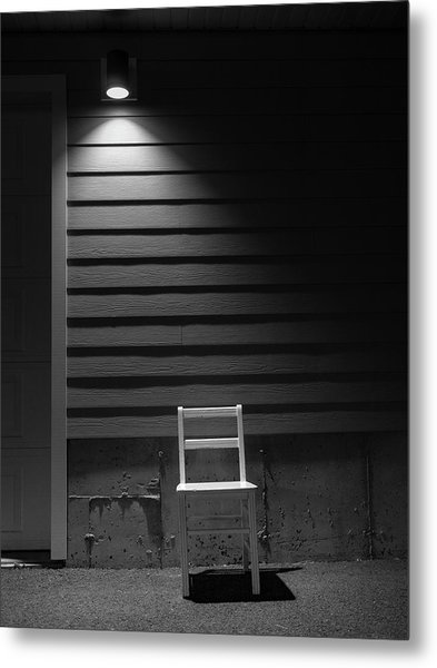 Waiting / The Chair Project Metal Print