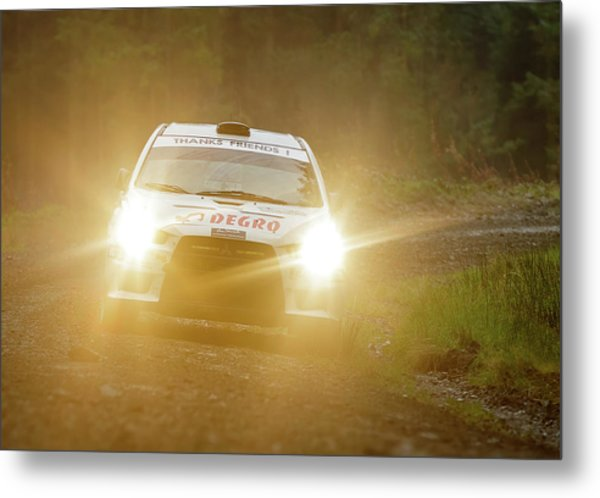 Metal Print featuring the photograph Wales Rally 2016 by Elliott Coleman