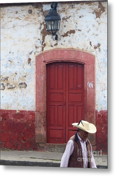 Metal Print featuring the photograph Walking By In Patzcuaro by Rosanne Licciardi