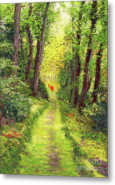 Walking Meditation Metal Print