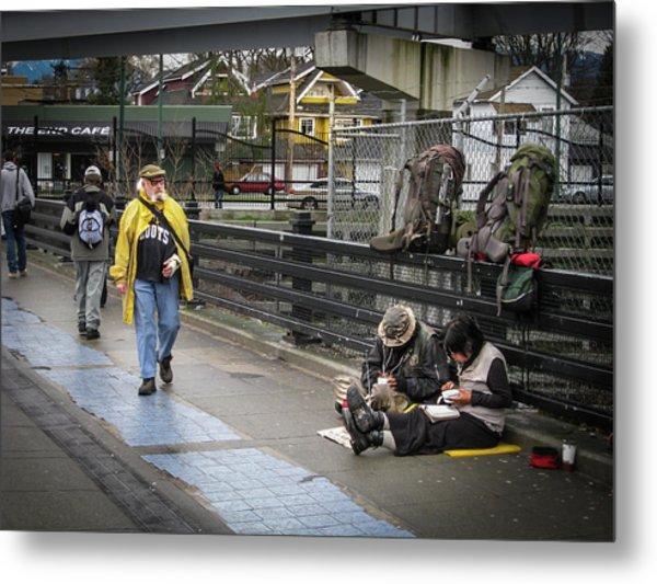 Walking-travellers Metal Print