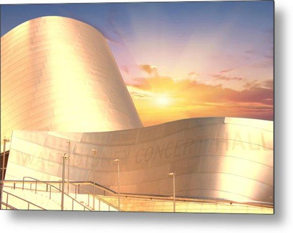 Wall Disney Concert Hall At Sunset Metal Print