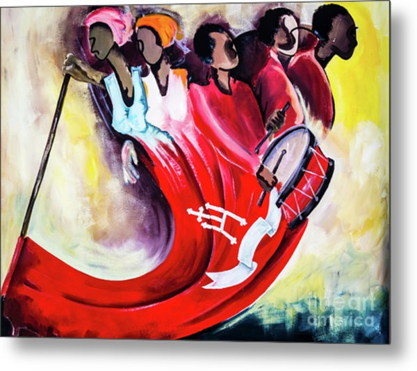 Wall Painting In Fogo, Cape Verde Metal Print