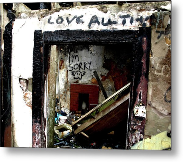 Metal Print featuring the photograph Wall, Sorry by Edward Lee