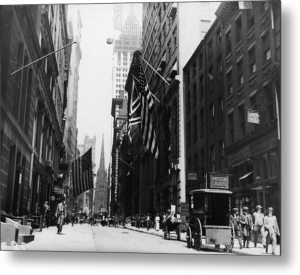 Wall Street Metal Print by Fpg