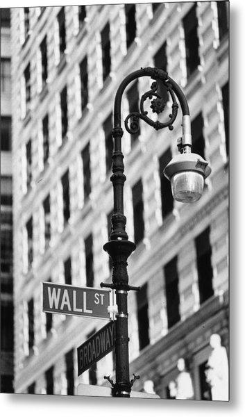 Wall Street Metal Print by Keystone