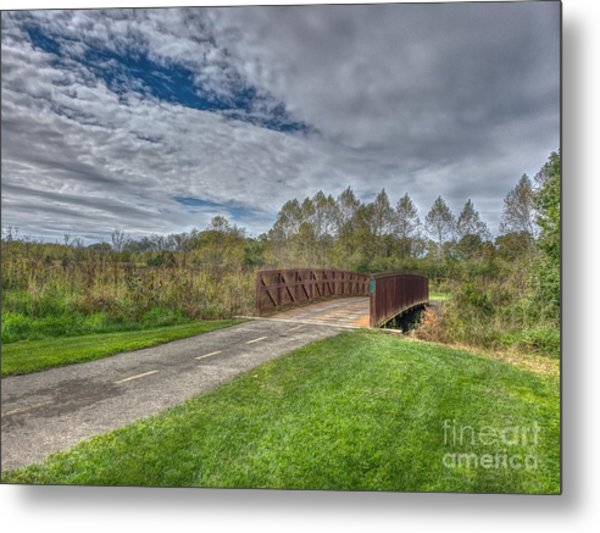 Walnut Woods Bridge - 1 Metal Print