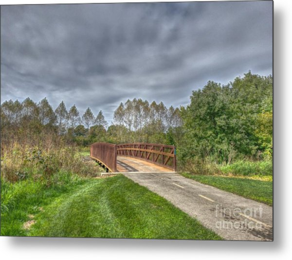 Walnut Woods Bridge - 2 Metal Print