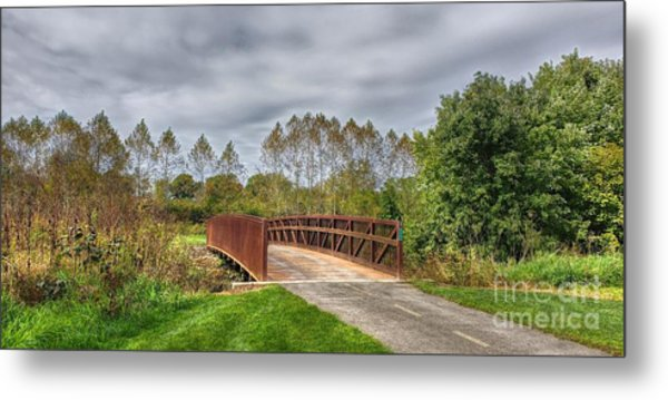 Walnut Woods Bridge - 3 Metal Print