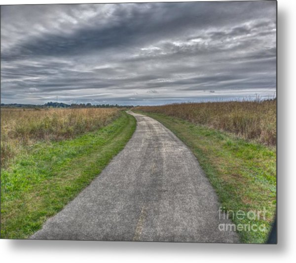 Walnut Woods Pathway - 1 Metal Print