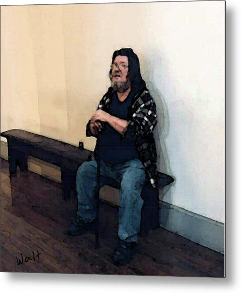 Walt Sitting Metal Print