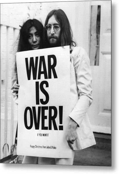 War Is Over Metal Print by Frank Barratt