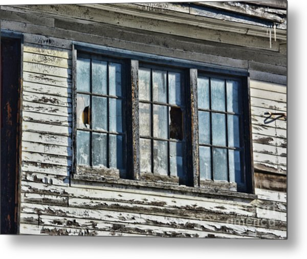 Warehouse Windows Metal Print