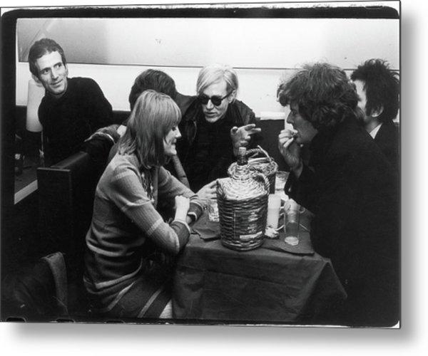 Warhol & Co. At Maxs Kansas City Metal Print by Fred W. Mcdarrah