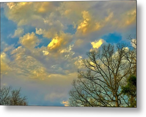 Warm And Cool Sky Metal Print