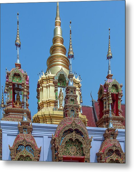 Metal Print featuring the photograph Wat Ban Kong Phra That Chedi Brahma And Buddha Images Dthlu0501 by Gerry Gantt