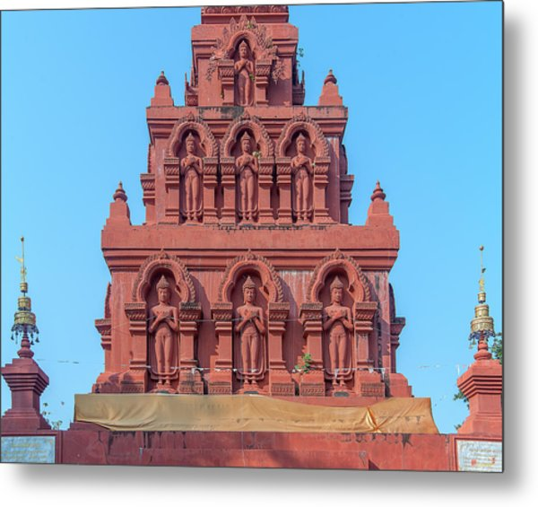 Metal Print featuring the photograph Wat Pa Chedi Liam Phra Chedi Liam Buddha Images Dthcm2673 by Gerry Gantt