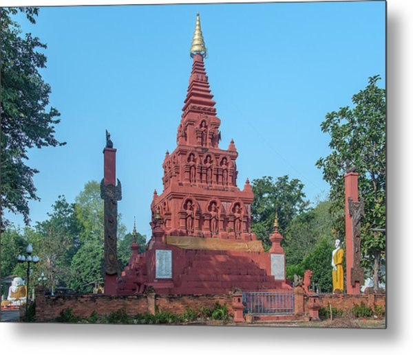 Metal Print featuring the photograph Wat Pa Chedi Liam Phra Chedi Liam Dthcm2670 by Gerry Gantt
