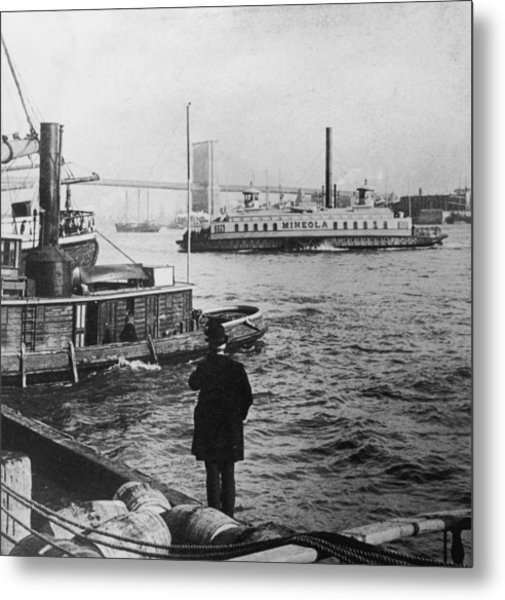 Watching Boats Metal Print by Hulton Archive