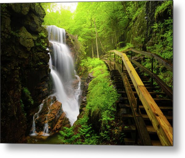 Water Falls In The Flume Metal Print by Noppawat Tom Charoensinphon