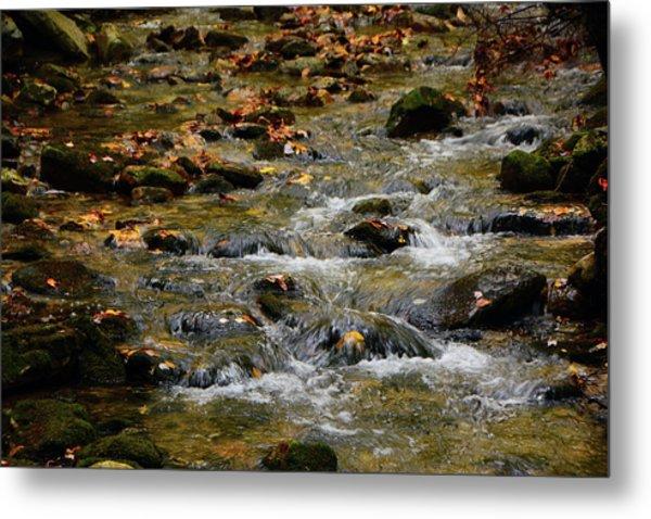 Metal Print featuring the photograph Water Navigates The Rocks by Raymond Salani III