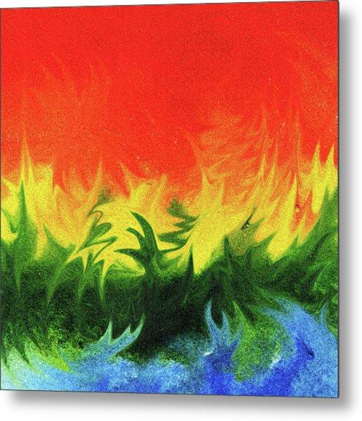 Watercolor Liquid Colorful Abstract IIi Metal Print
