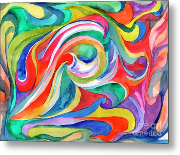 Watercolor's Swirl Metal Print