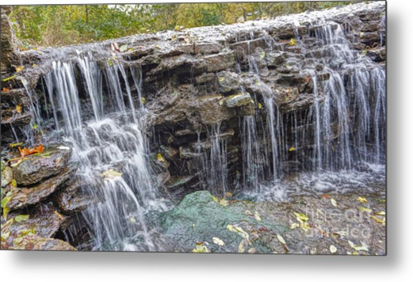 Waterfall @ Sharon Woods Metal Print