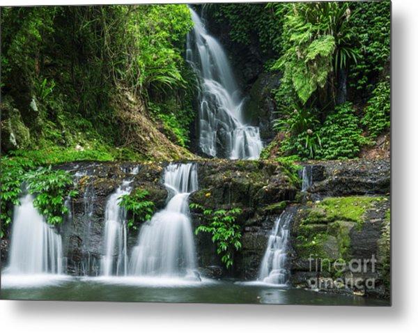 Waterfall In Lamington National Park In Metal Print