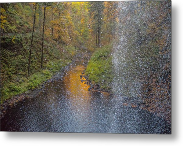 Waterfall Waterdrops Metal Print