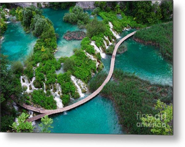 Waterfalls In Plitvice National Park Metal Print