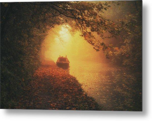 Waterway Sunrise Metal Print