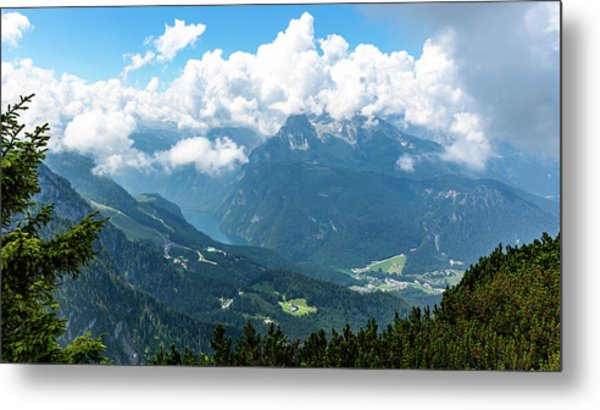 Metal Print featuring the photograph Watzmann And Koenigssee, Bavaria by Andreas Levi