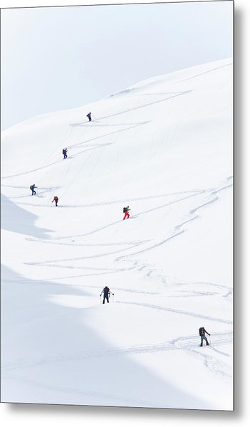 Watzmannkar, Ski Touring Metal Print