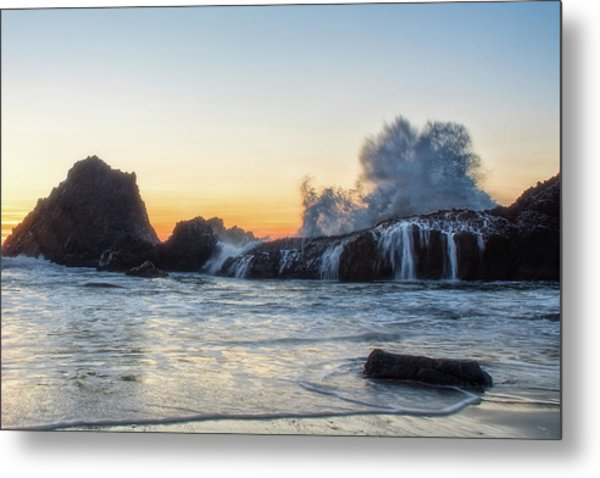 Wave Burst Metal Print