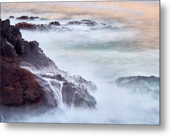 Metal Print featuring the photograph Wave Falls by Whitney Goodey
